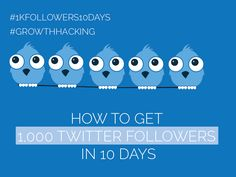 #Twitter Day 5 - Get 1,000 Twitter Followers in 10 Days [#1kfollowers10days #GrowthHacking] Get Twitter Followers, Growth Hacking, Got 1, 10 Days, How To Get, Free