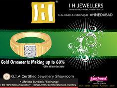 Gold Ornaments Making up to 60%  #IHJEWELERS #AHMADABAD #GOLDORNAMENTS  #GOLD   http://www.ihjewellers.com