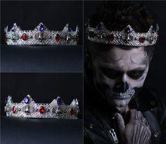 WILLIAM Gothic Crown Goth Weddingm goth tiara Silver crown Mens crown male crown #olenagrin #Crown