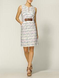 Mariella Windowpane Tweed Pencil Dress  by Milly  $425
