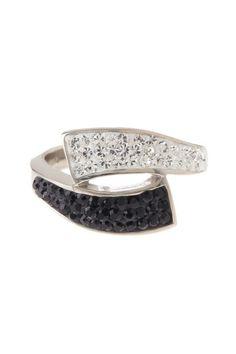 Black & White crystal ring HauteLook
