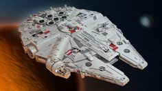 This Lego version of the Millennium Falcon from 'Star Wars: The Force Awakens' measures almost three feet long and weighs 22 pounds.