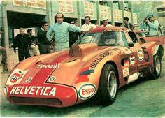 "A Trueno-Chevrolet from Argentina with driver ""Cacho"" Fangio, Juan Manuel Fangio's son Classic Sports Cars, Classic Cars, Ferrari, Sports Car Racing, Race Cars, Auto Racing, Rally Car, Car Car, Weird Cars"