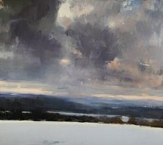 large ramsay sky ~ oil ~ by eric aho