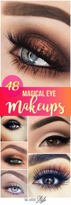 50 Magical Eye Makeup Ideas For Feeling like everything is okey from outfits to hairstyles but what about makeup? Missing your eye makeup? Well say goodbye to boring eye makeup and . Eye Makeup Tips, Makeup Goals, Love Makeup, Skin Makeup, Makeup Inspo, Makeup Inspiration, Makeup Ideas, Makeup Products, Beauty Make-up