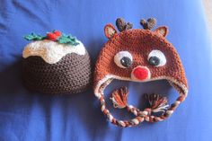 More crocheted Christmas hats