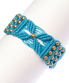 Look at this #zulilyfind! The Beaded Soul Turquoise Newport Bracelet by The Beaded Soul #zulilyfinds