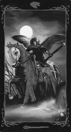 Dark Angels Tarot- Knight of Wands