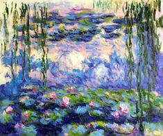 Robert Kaufman Fabric Claude Monet Garden Flowers HALF METRE