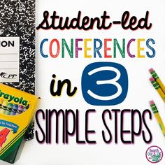 "Student-led Conferences are one of my FAVORITE ways for my students to take ownership over their learning and progress in the classroom.  I have successfully held Student-led Conferences in second and third grade (spring semester) in lieu of traditional Parent Teacher Conferences by using individualized ""portfolio style"" presentations.  There are three essential steps that make …"