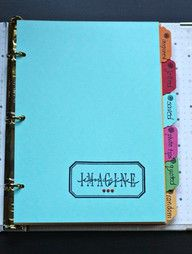 homemade SMASHbook; Good idea for a colorful DBC 'handbook'