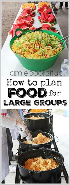 How to plan food for Girls Camp, Youth Conference, Family Reunions or other Large Groups from Jamie Cooks It Up!