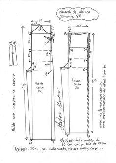 Macacão de alcinha – DIY – molde, corte e costura – Marlene Mukai