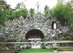 Lourdes grotto, Rama, Canada