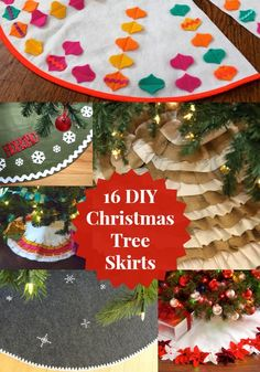 16 Ways to Make a Christmas Tree Skirt - diycandy.com