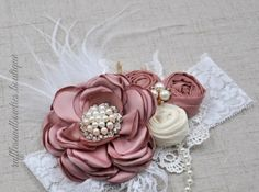 Shabby Chic Home Decor Vintage Baby Headbands, Diy Baby Headbands, Flower Girl Headbands, Diy Hair Bows, Baby Bows, Fascinator Headband, Rose Headband, Diy Headband, Designer Headbands