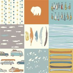 FEATHER RIVER by Jay-Cyn Designs for Birch Fabrics - Feather River Patch - 1 Yard - Quilting Weight Organic Cotton Fabric