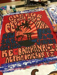 university of arkansas - alpha omicron pi (aoii) - sorority banner - concert banner - row - summer - cherub & french montana - kappa sigma, phi delta theta (phi delt) sigma alpha epsilon (sae) paint - greek tshirt ideas - sorority tshirt ideas - greek event - sorority event