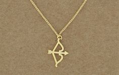 Bow and Arrow Necklace by KeirseyKreations2013 on Etsy..i want!