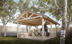 Pergola Attached To House Plans Wooden Summer House, Garden Archway, Gazebo Plans, Woodland House, Bohemian Bedroom Decor, Beautiful Dining Rooms, Pergola Attached To House, Backyard, Patio