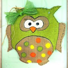 Burlap owl door hanger! Awesome