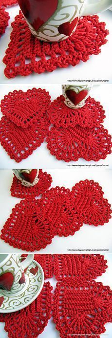 Crochet Bobble Heart - Chart ❥