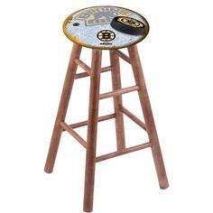 "Holland Bar Stool NHL 24"" Bar Stool with Cushion Finish: Medium, NHL Team: Boston Bruins"