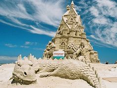 Now that is a sand castle!  Built on a beach in Cape Town and sold for 12,500 in a fund raiser.