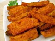 Easy - Baked Sweet Potato Wedges Recipe with Garlic Dipping Sauce