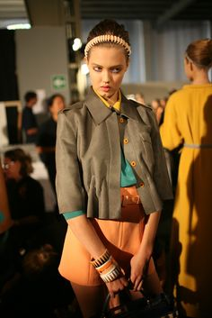 Backstage at Fendi RTW Spring 2013