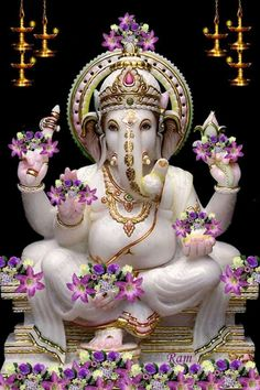 Lord ganesha can be workshipped at any time and at any place and easy for devotees to seek his blessings. Workship lord ganesha on tamil new year to get lot of blessings. Shri Ganesh, Ganesh Lord, Ganesha Art, Lord Shiva, Krishna, Ganesh Tattoo, Ganesh Idol, Ganesh Statue, Shiva Art