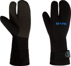 The Bare 7mm Three-Finger Mitt is for those diving in cold waters that prefer the three finger mitt style glove and are looking for additional warmth. The three finger design is perfect for that extra bit of warmth on cold dives keeping your fingers closer together to retain body temperature....