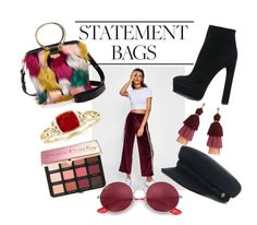 """""""Statement Bags"""" by jacintap17 ❤ liked on Polyvore featuring Milly, Casadei, Ray-Ban, Sephora Collection, vintage and statementbags"""