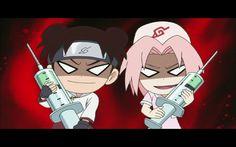 Sakura and Tenten scary nurse