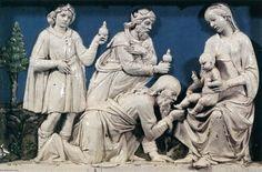 Madonna col Bambino tra i Santi Cosma e Damiano (particolare)