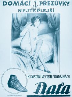 Vintage Poster:  Bata (aka Baťa), Czech Republic, 1935 #batashoes #bata120yearsadvertising Vintage Advertisements, Vintage Ads, Vintage Posters, Bata Shoes, Shoe Poster, Czech Republic, The Past, Advertising, European Countries