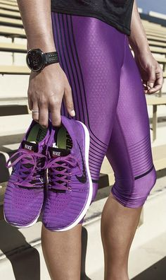 ♡ Women's Nike Purple fitness clothing Workout Clothes Tops Fitness Apparel Must have Workout Clothing Yoga Tops Sports Bra Yoga Pants Motivation is here! Fitness Apparel Express Workout Clothes for Women SHOP @ FitnessApparelExp. Workout Attire, Workout Wear, Workout Pants, Nike Workout, Nike Free Shoes, Nike Shoes Outlet, Nike Free Runs, Nike Running, Running Shoes