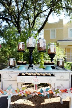 Old dresser candy buffet