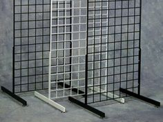 """Grid Legs Only - Pair RECTANGULAR TUBING LEG Levelers included. Length 24"""".Rectangular Tubing Leg for Grid Panel."""