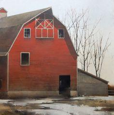"""Rural Dawn by Joseph Alleman Oil ~ 48"""" x 48"""""""