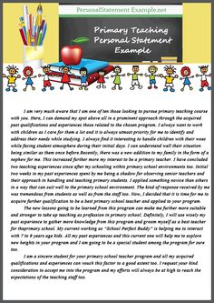 teaching personal statements primary