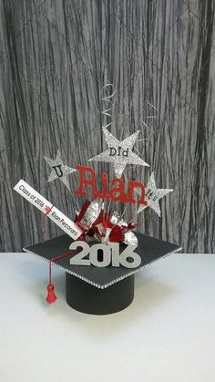 Check out this item in my Etsy shop https://www.etsy.com/listing/291662205/graduation-centerpiece