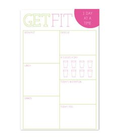 Get Fit Notepad – Charm & Gumption