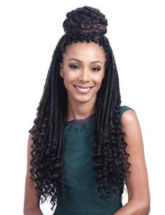 Bobbi boss bomba faux locs soul curly tips 20 crochet braid styles faux locs goddess bobbi boss bomba faux locs soul curly tips 20 super ideas for braids africanas kids braids Crochet Braids Hairstyles, African Hairstyles, Braided Hairstyles, Gorgeous Hairstyles, Fancy Hairstyles, Black Hairstyles, Protective Hairstyles, Hairdos, Goddess Locs