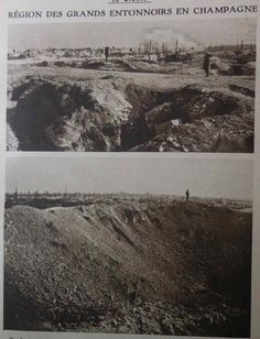 """Le Miroir, 24 sept 1916;""""Region of big craters, Champagne"""". WWI"""