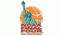 1996 NCAA Men's Final Four Primary Logo - Kentucky, Syracuse, UMass, Mississippi State @ The Meadowlands