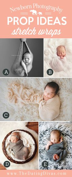 Adorable Newborn Photography Prop Ideas using Stretch Wraps
