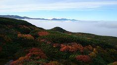 旭岳の紅葉と雲海