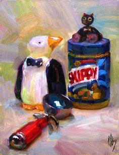 "John Kilroy ""An admiring glance""14"" x 11"" oil"
