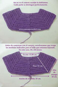 Cómo tejer un saco, campera, cardigan o chambrita a crochet o ganchillo